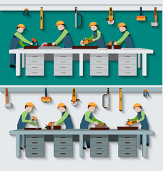 Carpentry workshop vector