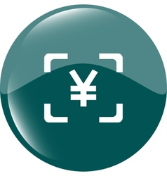 Yen jpy sign icon web app button web icon vector