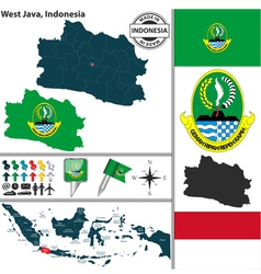 Map of west java vector