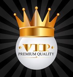 Vip emblem vector