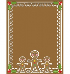 Gingerbread man border vector