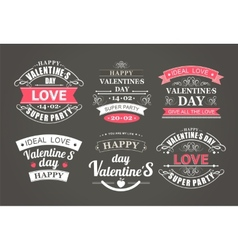 Calligraphic design elements valentines day vector