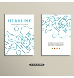 Book cover with abstract linear circuits eps vector