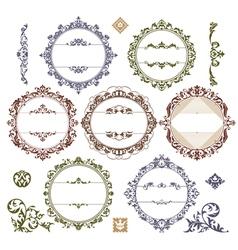 Set of royal vintage frames vector