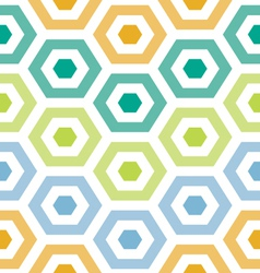 Party hexagons print pattern vector