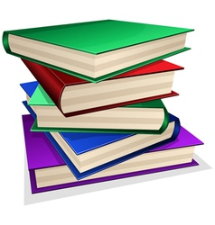 Pile of books isolated on white vector