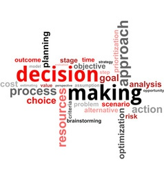 Word cloud decision making vector