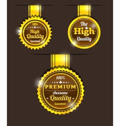Golden vintage sticker vector