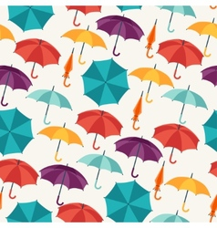 Seamless pattern with cute multicolor flat vector