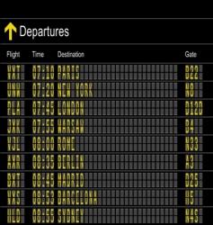 Departures vector
