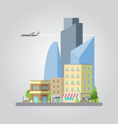 Flat design of colorful cityscape vector