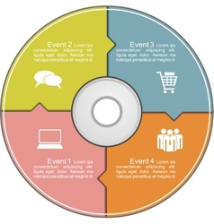 Infographics template with compact disk vector