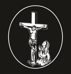 Jesus crucifixion vector
