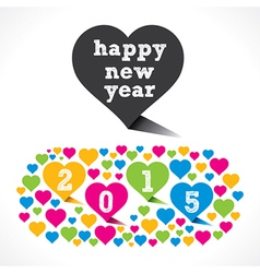 New year 2015 design with colorful heart design vector