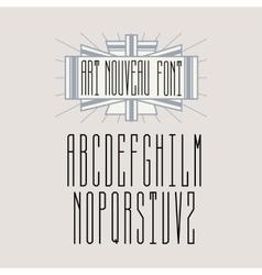 Beautiful monogram art nouveau vector