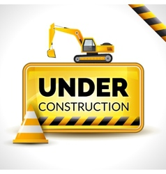 Under construction poster vector