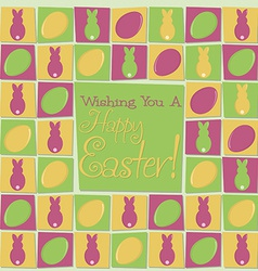 Mosaic funky easter card in format vector