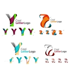 Letter business emblem collection vector