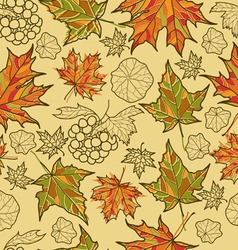 Seamless grunge autumn leaves vector