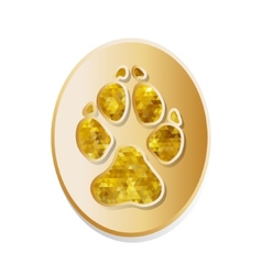 Dog track icon vector