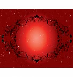 Frame and star background vector