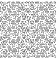 Lace with swirls vector