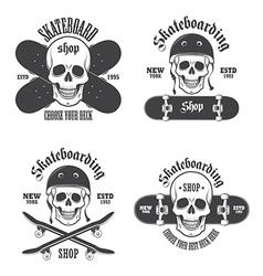 Skateboard emblems 2 vector
