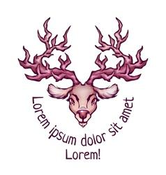 Deer in cartoon style vector