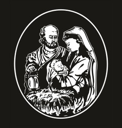 Jesus nativity vector