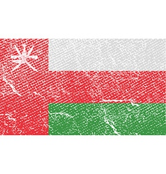 Flag of oman with old texture vector