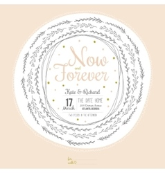 Inspirational romantic and love save the date vector