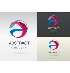 Trendy abstract vibrant and colorful icon vector