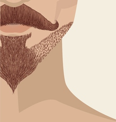 Bearded mans face vector