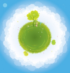 Earth and people vector