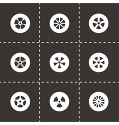 Wheel icon set vector