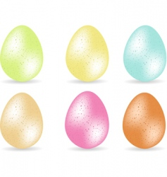 Speckled easter eggs vector