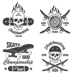 Skateboard emblems vector