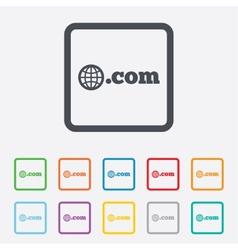 Domain com sign icon top-level internet domain vector