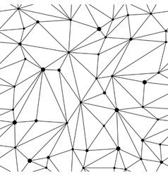 Geometric mesh seamless pattern vector