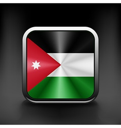 Jordan icon flag national travel icon country vector