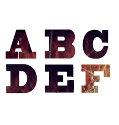 English textured alphabet vector