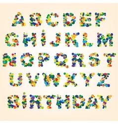 Color abstract alphabet vector