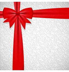 Gift bow with ribbon background vector