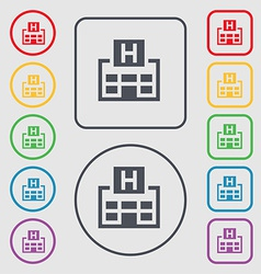 Hotkey icon sign symbol on the round and square vector