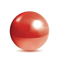 Photorealistic shiny red orb vector