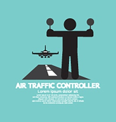 Air traffic controller graphic symbol vector