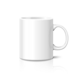 Blank photo realistic cup isolated on white vector