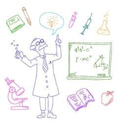 Laboratory doodles vector
