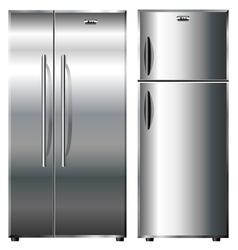 Metallic refrigerators vector