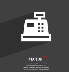 Cash register icon symbol flat modern web design vector